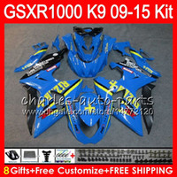 Wholesale Rizla K9 - 8Gifts For SUZUKI GSX R1000 GSXR1000 09 10 11 12 13 14 15 RIZLA Blue 38NO23 K9 GSXR-1000 GSXR 1000 2009 2010 2011 2012 2013 14 2015 Fairing
