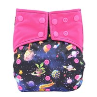Wholesale Aio Cloth Diapers Large - 20pcs lot Reusable Cloth Diaper All-in-one AIO Baby Nappies Couche Lavable Waterproof Pocket Diaper Double Gussets Diaper Cover