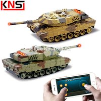Wholesale Huanqi Toys - Wholesale-Original HuanQi H500 RC Tanks Battle Infrared Shooting Phone Bluetooth Gravity Sensor Super Power Remote Control Toys For Kids
