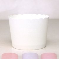 Wholesale Pink Paper Baking Cups - Wholesale- 50pcs bag pure color white green yellow pink red 50x45x60mm muffin liner cases for Birthday wedding Party Baking paper cake cup