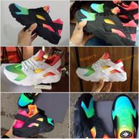 Wholesale Colorful Winter Boots Women - 2017 Huarache Sneakers Women And Mens Huaraches Colorful White Huarache Black Running Shoes Sneakers Air Huarache Rainbow Shoes Size 36-45