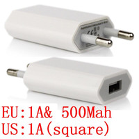 Wholesale s4 travel charger - 100pcs White Eu US 5V 1000mah 1A or 500Mah Real ac home wall charger travel adapter for iphone 4 5 6 for samsung s3 s4 s6 mp3 gps