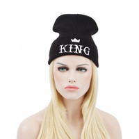 Wholesale hat cold - KING Beanies hats autumn winter warm knitted woolen hat fashion hip hop hat cap outdoor outdoor cold hat ski cap autumn winter Hats