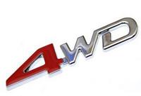 emblèmes en plastique chromé achat en gros de-3D ABS Chrome 4WD Emblème Badge Autocollant 4WD Decal Accessoires Sport Autocollants Pour Toyota Highlander Pour NISSAN X-Trail Xtrail