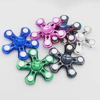 Wholesale Eva Long - 2017 New Hot Five Angle Fidget Spinners Three Colors Hands Spinner Rotation Long Time Noise Stress Spinning Top Black L003