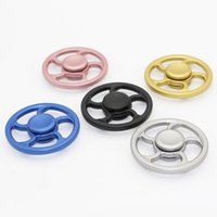 Big Kids Multicolor Plastic TOP Newest hot Steering wheel fidget Spinner Fingertip Gyro aiming circle hand Spinners Decompression Anxiety Toys EDC Aluminium alloy