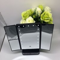 nuevo Make Up LED Mirror Espejo plegable cosmético con soporte Base 180 Degree Rotación Touch Screen Makeup Mirror