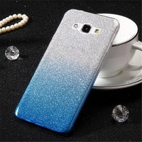 Moda Ultra fino gradual Change Color Glitter Case Tampa TPU Soft Shockproof Cases para Samsung Note S7 S8 Edge Plus C5 C7 C9 C10 pro