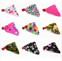 Wholesale 9 Styles Adjustable Dog Collar Puppy Cat Scarf Collar for Dogs Bandana Neckerchief Pet Accessories