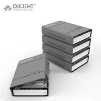 Wholesale Ide Sata Case - Wholesale- QICENT 5Psc lot Portable 3.5'' External SATA IDE SAS Hard Drive Storage Protective Case Cover - Gray