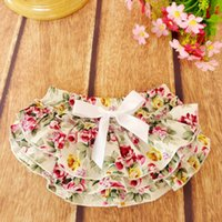Everweekend Girls Baby Floral Ruffles PP Брюки Vintage Корея Дети Летняя одежда Sweet Baby Fashion Clothing