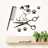 calcomanías de pared de impresión animal para vivero al por mayor-Perros tatuajes de pared Paw Prints Salon Animales Mascotas Arte Vinilo Pegatinas de pared para Nursery Baby Room Decor