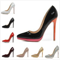 Wholesale Womens Sexy White Heels - Fashion new Womens Sexy 12cm Platform High Heels,Ladies wedding shoes with Thin Heels 35-42 Free shipping