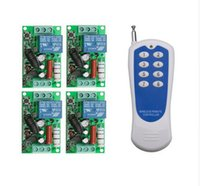 Wholesale 315 mhz remote - Wholesale- Wholesale AC 220 V 10 A 1 channel RF wireless remote control 1 receiver and 1 transmitter 315 mhz or 433 mhz 100m