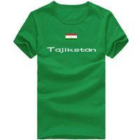 Wholesale Dash Clothing - Tajikstan T shirt Dash sport short sleeve Cheer player tees Nation flag clothing Unisex cotton Tshirt