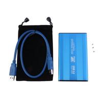 mavi hdd toptan satış-Sıcak Mavi USB 3.0 HDD Sabit Disk Harici Muhafaza 2,5 inç SATA HDD Kutu Kutusu