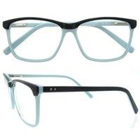 Wholesale Dropshipping Fashion Bags - dropshipping rectangle plank frame blue pink white full rim good quality fashionable wholesale unisex women eyeglasses