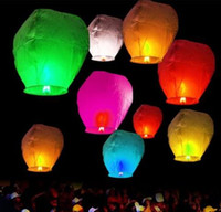 Wholesale Paper Candle Light Lanterns - Sky Lanterns Chinese Paper hot air Balloons Candle Wishing Wedding Party Flying Lamp photography props Christmas decoration lights