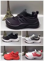 Wholesale Little Boys Girls - Kids Athletic Air Presto Running Shoes Little Baby Boys Girls Student Run Sneaker 24-35 With Box