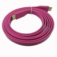 Wholesale Composite Wire - 1.5M HDMI to HDMI Cable Male Flat Noodle 24K High Speed AV Audio Video Wire 1.4 Version for HDTV Digital XBOX