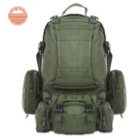 Wholesale Backpack For Water Bag - 50L Multifunction Sport Bag Molle Tactical Bag Water Resistant Camouflage Backpack for Outdoor Climbing Hiking Camping 8 Colors