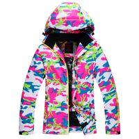 Wholesale Cheap Winter Waterproof Jackets - Wholesale- Cheap skiing suit Jackets Women Ski Snowboard Skiing Clothing windproof waterproof -30 Ski Jackets outdoor winter snow custome
