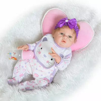 Wholesale Lifelike Dolls China - 52cm Soft Full silicone body reborn babies Girl dolls Can Bath Lifelike Vinyl Newborn Bebe Alive Brinquedos Reborn Bonecas