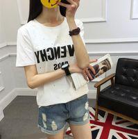 Wholesale Made Men T Shirt - 2017 Summer Europe Paris Fan Made Fashion Men High Quality Broken Hole Cotton Tshirt Casual Women Tee T-shirt