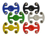 Wholesale Plastic Octopus Toy - New arrival 6 Colors Plastic Octopus Hand Spinners Fidget Spinner Decompression Spinning Top Octopuses Finger Toy With Metal Balls