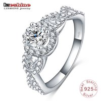Engrave Name Free 2017 Nouvelle Collection 925 Sterling Silver Brilliant Bague empilable Bague claire CZ Bijoux Fine Anillos 17902