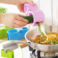 Wholesale Knife Potato Wholesale - Vegetable Spiral Cutter +Knife Sharpener Carrot Double Grater Shredded Slicer Kitchen Accessories Potato Cutter Slicer KKA1913
