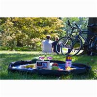 çocuklar piknik pedi toptan satış-Çocuk Oyuncakları Saklama Çantası çocuk piknik mat Oyun Mat Lego Oyuncaklar Organizatör Bin Kutu 150 cm 100 cm 45 cm