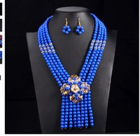 New Nigerian Wedding Jewelry Sets Indian Bride Acessórios Crystal Flower Choker Colar Mulheres African Beads Jewelry Sets