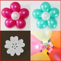 balon klipsleri mühürleri toptan satış-10 adet Çiçek Balonlar Klip Balon Globos Flor Balonlar Dekorasyon Aksesuarları Erik Klip Pratik Folyo Balonlar Sızdırmazlık Kelepçe