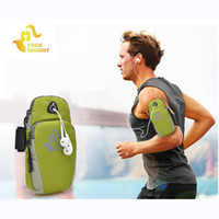 Wholesale Wholesale Baseball Armbands - FK801 Sports Running Jogging Gym Armband Unisex Arm Band Holder Bag Mobile Phone Pouch for Running Gym free shipping