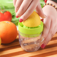 Pratique Fabricant de Jus de Plastique Manuel à la main Citrus Lime Lemon Orange Fruit Squeezer Pratique Juicer Press Kitchen Tool ZA2919