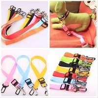 Wholesale dog vehicle - Colors Cat Dog Car Safety Seat Belt Harness Adjustable Pet Puppy Pup Hound Vehicle Seatbelt Lead Leash for Dogs Drop Shipping