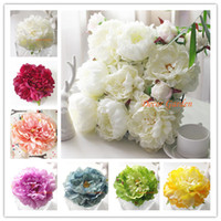 Wholesale flower wall wedding - 16COLOR CM quot Artificial Silk Decorative Peony Flower Heads For DIY Wedding Wall Arch Home Party Decorative High Quality Flowers FP04