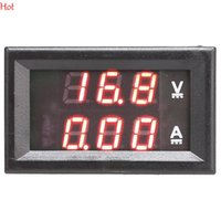 Wholesale Mini Ammeter - Mini Digital Voltmeter Ammeter DC 100V 10A Panel Amp Volt Current Meter Tester Dual Red LED Display Current Monitor TK1381