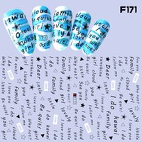 Wholesale Adhesive Manicure - Love Series Nail Art Sticker English Letters Star Encouraging Word Lucky Fight Design Self-adhesive Manicure Decoration Decals