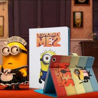 Wholesale Minion Smart Ipad Mini Case - Cartoon minions book style pad case for iPad Mini 2 3 4 Ultra thin PU Leather Stand Case iPad Air 1 2 ipad 2 3 4 Folding Cover 2017 hot sale