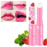ingrosso balsamo per labbra bambino-New Sweet Strawberry Color Lip Balm Magic Cute Makeup Lipstick Temperatura Cambia Baby Lip Balsamo idratante