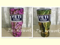 Wholesale Camouflage Stockings - DHL YETI Mugs NEW Camouflage Color 30 oz Camo Yeti Cups Stainless Steel Insulated Rambler Tumbler VS YETI Cups