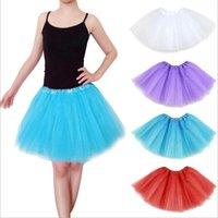 Wholesale Dancing Dress Petticoat - Kids Ballet Dancing Dress Fashion Candy Color Underskirt Ball Gown Skirt Dancing Skirt Rockabilly Tutu Mini Petticoat Ballet Skirts F110