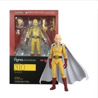 Wholesale finish one - Anime Saitama One Punch Man Figma 310 PVC Action Figure Collectible Model Boy Girl Birthday Birthday Gift 14cm