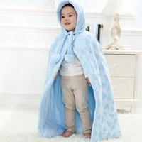 Wholesale Toddler Hooded Poncho - Infant Unisex Poncho Capes Kids Hoodies Outwear With Patterned Baby Toddler Poncho Casual Brief Style 2 Color