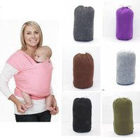 Wholesale Wholesale Gear Bags - Baby Carrier Breastfeed Sling Backpack Wrap Stretchy Breastfeed Gear Sling Baby Stretchy Strollers Gallus Kids Backpack Bag KKA1942