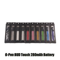 Wholesale Oil For Cigarettes - CE3 O-Pen BUD Touch 280mAh Battery 510 Thread E Cigarettes Vapor Pen With USB Charger For Wax Oil Cartridge Vaporizer