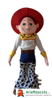 Wholesale Toy Story Cartoon Characters Costumes - 100% real photos New Toy Story Jessie Dress mascot suit cartoon character mascots fancy dress costumes kids carnival party dress
