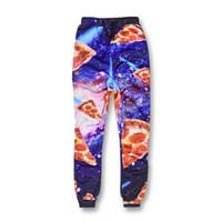 Wholesale Galaxy Harem Pant - Wholesale- Casual Pants Men Womens Fitness Trousers Harajuku Galaxy Space Pizza 3D Print Sweat Harem Pantalones Hip Hop Joggers Sweatpants